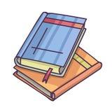 书和Pics册页堆 图片册页和书 免版税库存照片