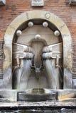 书喷泉在罗马 免版税库存图片