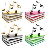 书图标了解音乐歌曲符号 免版税库存图片