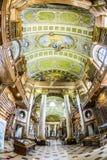 书在美丽的奥地利国立图书馆里在维也纳 免版税库存图片