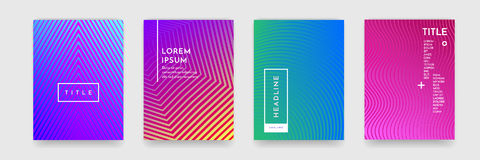 书套模板传染媒介集合的抽象梯度颜色样式纹理 向量例证