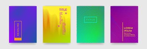 书套模板传染媒介集合的颜色梯度摘要几何样式纹理 向量例证