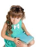 书女孩一点 免版税库存图片