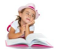 书女孩一点 免版税图库摄影