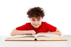 书孩子读取 免版税库存照片