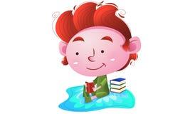 书孩子读 免版税库存照片