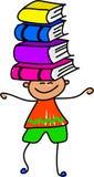 书孩子 库存图片