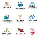 书对象标志设计 免版税库存图片