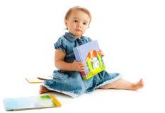 书小孩 免版税库存图片