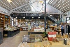 书店和杂货店在redtory创造性的庭院,广州,瓷里 库存照片