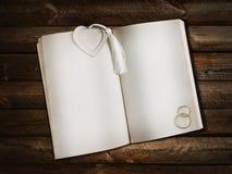 书开放书签的重点 库存图片