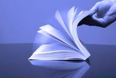 书开放页 库存照片