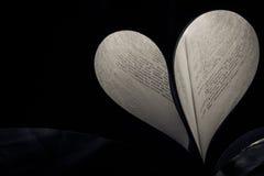 书心脏爱 免版税库存照片