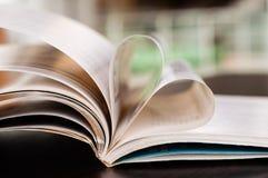 书心脏 免版税库存照片
