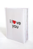 书我爱你 免版税图库摄影