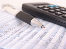 书支票登记簿 免版税库存图片