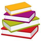 书架向量 传染媒介堆书 免版税库存照片