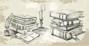 书架 皇族释放例证