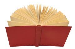 书查出的开放红色 免版税库存照片