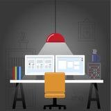书桌 免版税图库摄影