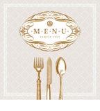 书法刀叉餐具框架菜单葡萄酒 图库摄影