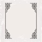 书法华丽葡萄酒框架边界装饰设计 免版税库存照片