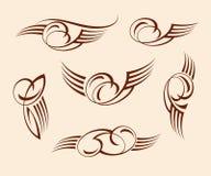 书法抽象纹身花刺 browne 也corel凹道例证向量 皇族释放例证