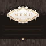 书法装饰框架菜单 免版税图库摄影