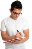 书玻璃学员写道 免版税库存照片