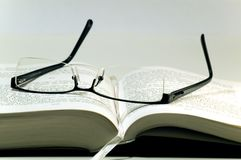 书玻璃 免版税库存图片