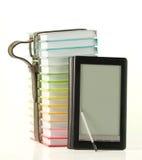 书登记五颜六色的电子阅读程序栈 图库摄影