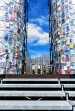 书的帕台农神庙, documenta 14 -在Friedrichsplatz的艺术寺庙在卡塞尔,德国 图库摄影