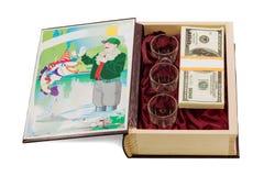 以书的形式小箱渔夫的 免版税库存图片