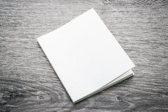书的空白的白色嘲笑 免版税库存图片