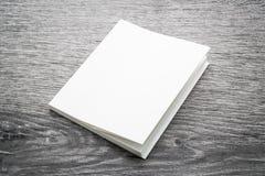 书的空白的白色嘲笑 库存照片