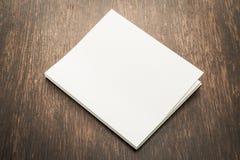书的空白的白色嘲笑 免版税图库摄影