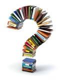 从书的问号 搜寻信息或常见问题解答edication 库存图片