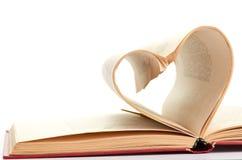 书的页弯曲了到重点 免版税库存图片