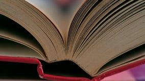 书的页被翻转 影视素材