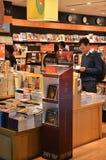 书的顾客商店 免版税库存图片