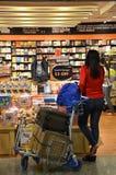 书的顾客商店 免版税库存照片