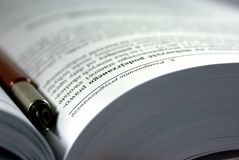 书研究 免版税库存图片