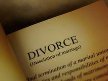 书离婚标题 免版税图库摄影