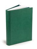 书空白的绿色精装书-裁减路线 免版税图库摄影