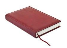 书签皮革笔记本 免版税库存照片