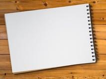 书草图白色木头 图库摄影