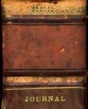 书被限制的皮革 免版税库存照片