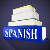 书西班牙人手段翻译为英语和方言 库存例证