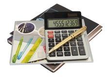 书计算器 免版税库存图片