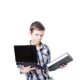 书计算机 免版税库存照片